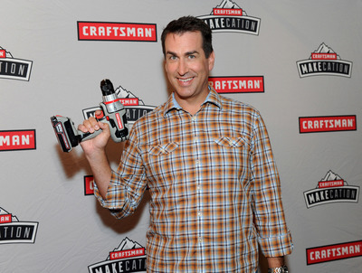 """Actor and comedian Rob Riggle announces the Craftsman MAKEcation, Wednesday, June 4, 2014, in New York. MAKEcation is the ultimate """"making"""" vacation to be held Labor Day weekend. Attendees will learn skills from hardcore blacksmiths, rugged woodworkers and cigar rolling experts. Visit www.craftsmanmakecation.com to enter for a chance to win a coveted spot for the event or to buy a ticket. (Photo by Diane Bondareff/Invision for Craftsman/AP Images) (PRNewsFoto/Craftsman)"""