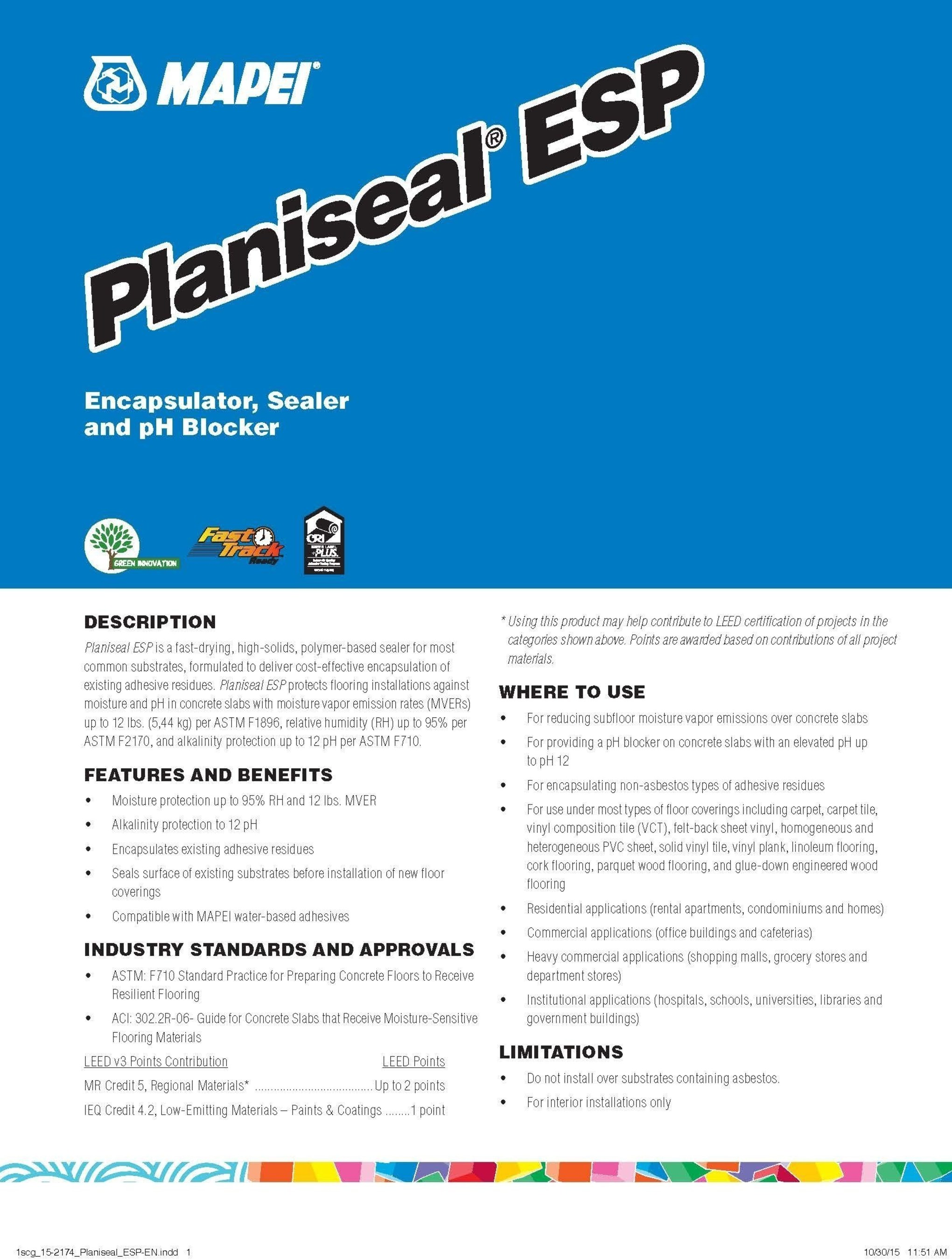 MAPEI Planiseal ESP - A Game-Changer in Controlling Moisture and pH Below Finished Flooring