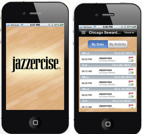 Free Jazzercise App includes ability to find a class near you, search by class type or instructor, add a class ...