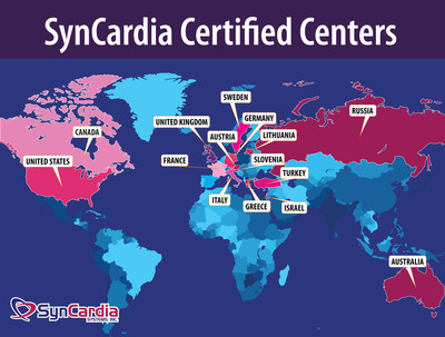 Worldwide, there are currently 68 hospitals across 15 countries that are certified to implant the SynCardia temporary Total Artificial Heart.  (PRNewsFoto/SynCardia Systems, Inc.)