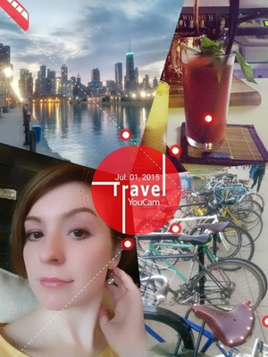 Taking summer memories to the next level, YouCam Perfect serves as a great tool to create seasonal and travel themed photo collages.