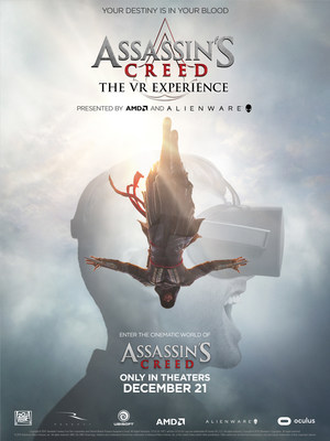 "Launching today, the ""ASSASSIN'S CREED"" Movie VR Experience will take the viewer inside the world of Assassins like never before. The ""ASSASSIN'S CREED"" Movie VR Experience will be available for free through the Oculus Video app on both Oculus Rift and Samsung Gear VR and as a 360 video on Facebook from December 1. Movie in theaters December 21."
