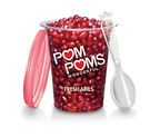 Available nationally in the fresh cut-fruit section of most major grocery stores, the 4.3oz. size of POM POMS Fresh Arils includes its own spoon for easier snacking.  (PRNewsFoto/POM Wonderful)