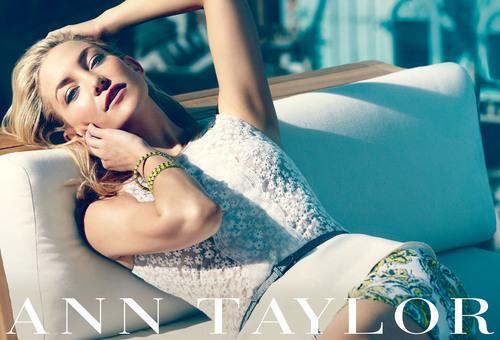 Kate Hudson returns as Ann Taylor ambassador for spring/summer 2013 campaign.  (PRNewsFoto/Ann Taylor)