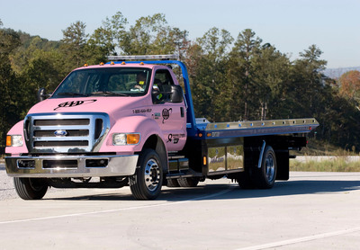 AAA's pink tow trucks will provide unique exposure for National Breast Cancer Awareness Month.  (PRNewsFoto/AAA Chicago)