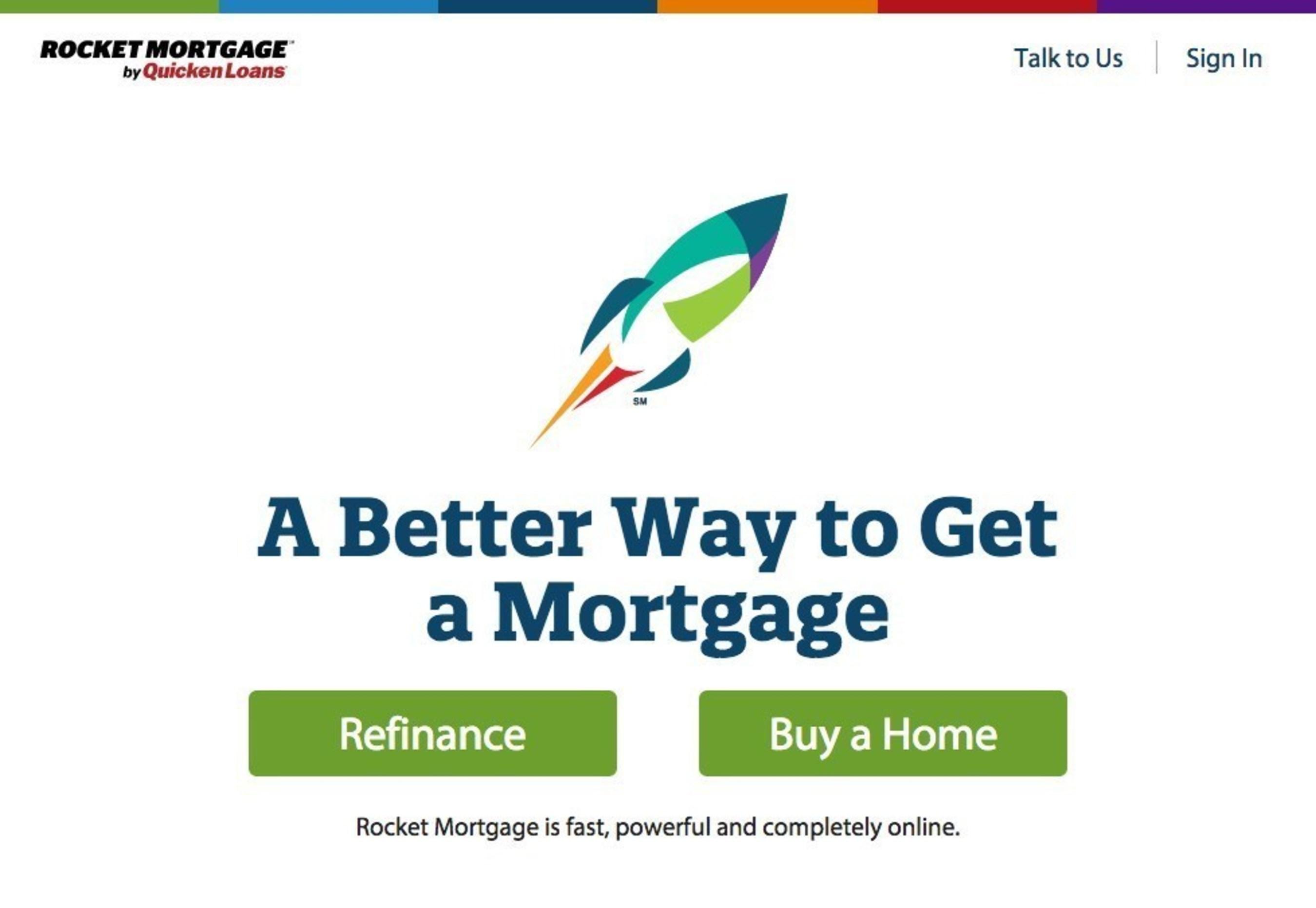 RocketMortgage.com homepage