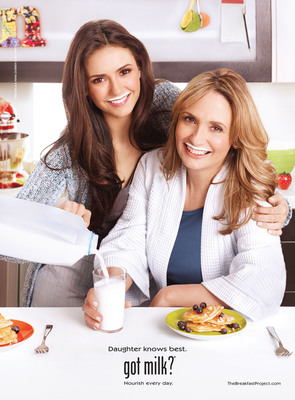 Actress Nina Dobrev Launches Search For The Next Mother-Daughter Team To Star In A Milk Mustache Ad.  (PRNewsFoto/MilkPEP)