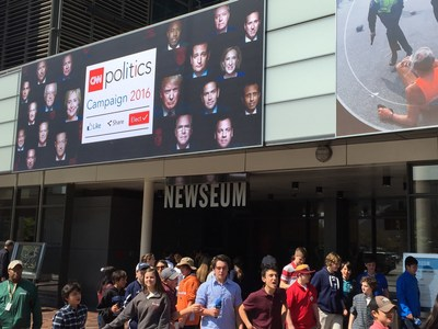 """""""CNN Politics Campaign 2016: Like, Share, Elect"""" opens April 15 at the Newseum."""