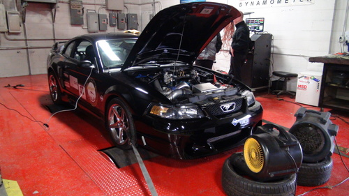 Engineering work on the dyno (PRNewsFoto/Performance CNG)
