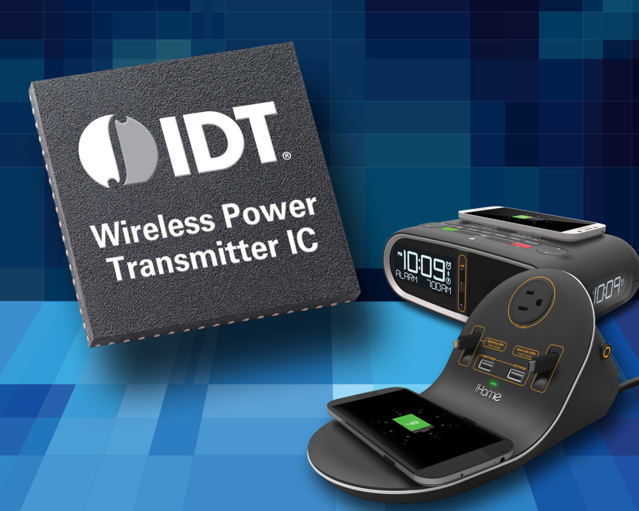 iHome Selects IDT Technology to Provide Convenience of Wireless Charging in Hotel Rooms