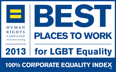 HRC 2013 Corporate Equality Index logo.  (PRNewsFoto/Aon plc)
