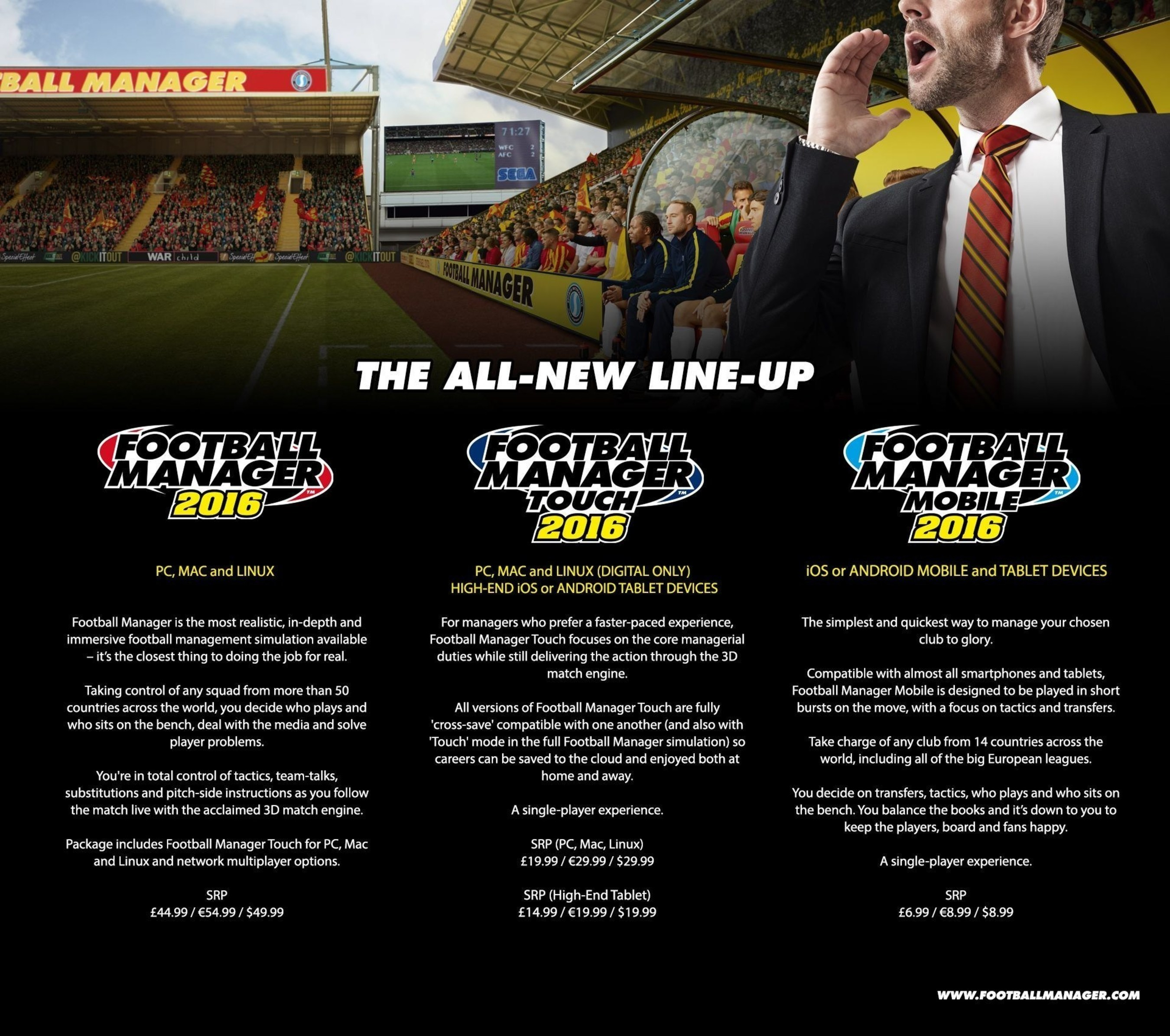 Football Manager 2016 Infographic (PRNewsFoto/SEGA Europe Ltd) (PRNewsFoto/SEGA Europe Ltd)