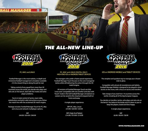 Football Manager 2016 Infographic (PRNewsFoto/SEGA Europe Ltd) (PRNewsFoto/SEGA Europe Ltd)