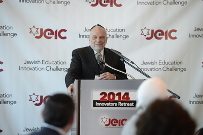 "Keynote speaker, Rabbi Dr. Berel Wein on ""Jews, Education, and the Way Forward"" (PRNewsFoto/Mayberg Family Charitable)"