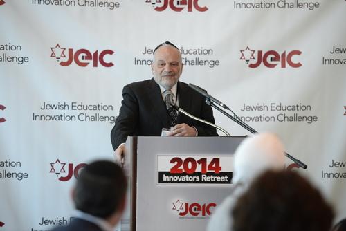 "Keynote speaker, Rabbi Dr. Berel Wein on ""Jews, Education, and the Way Forward"" (PRNewsFoto/Mayberg Family Charitable)"