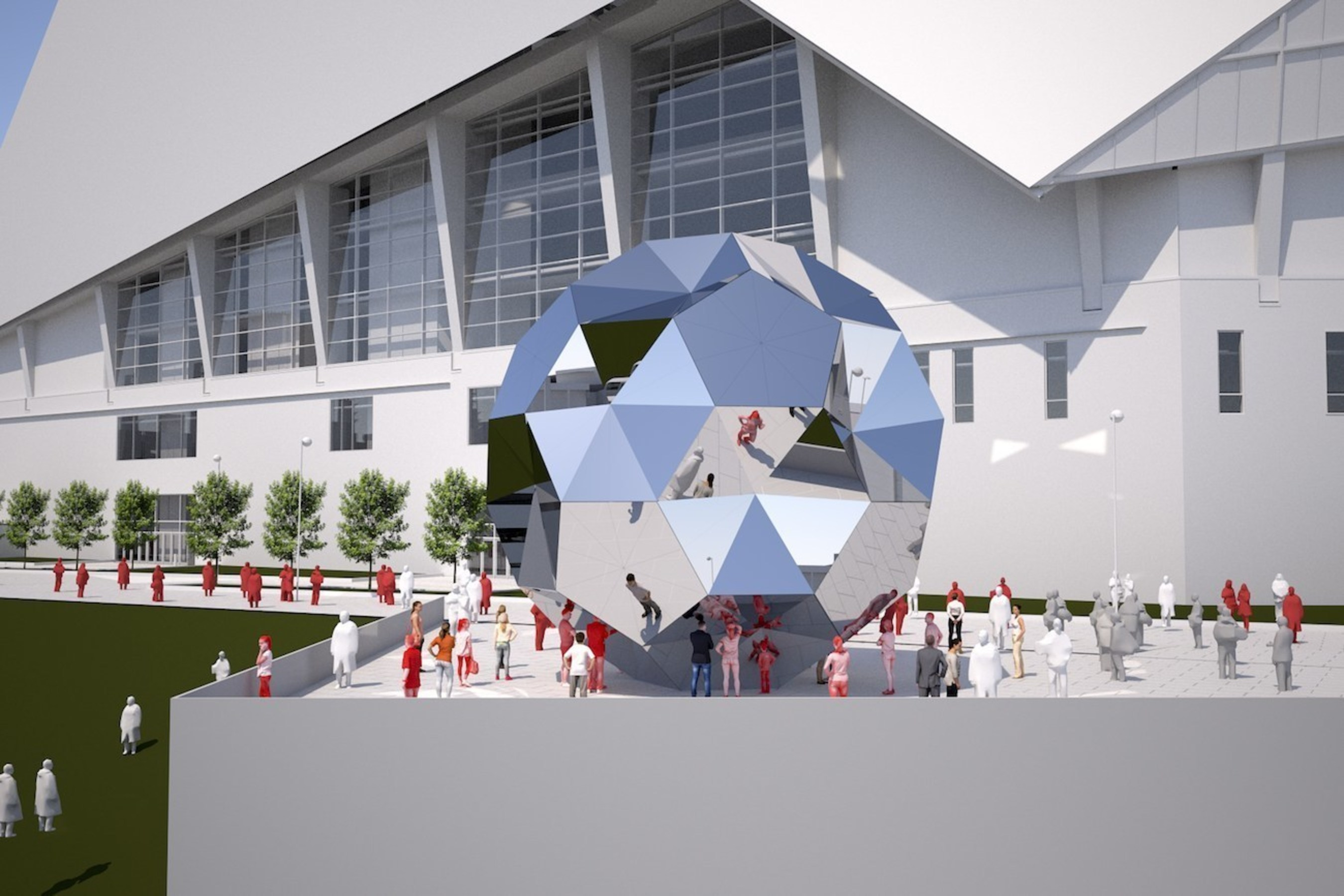Astonishing Mercedes Benz Stadium And Scad Reveal Marquee Art Installations Download Free Architecture Designs Grimeyleaguecom