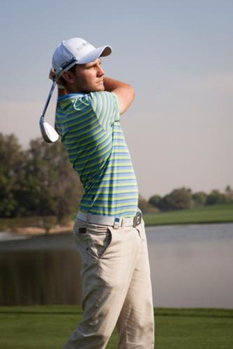 Max Kieffer at the Omega Dubai Desert Classic.  (PRNewsFoto/Air Partner)