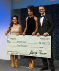 The three winners of the third annual Liberty Power Bright Horizons Scholarship program were honored at a gala during the United States Hispanic Chamber of Commerce National Convention, which took place September 20-22 in Houston, Texas. A total of $20,000 was awarded. From left to right: Nina Vaca, USHCC Foundation Chairman; Khiana Lowe, third place Bright Horizons Scholarship recipient; and Tim LoCascio, Director of Marketing at Liberty Power.