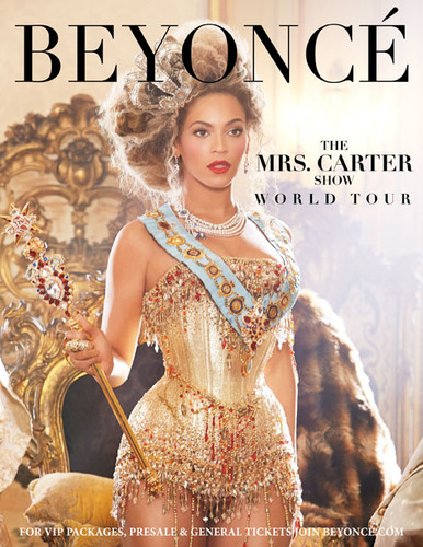 The Mrs. Carter Show World Tour Starring BEYONCE.  (PRNewsFoto/Columbia Records, Elle Muliarchyk for Parkwood Entertainment)