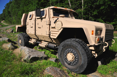 Lockheed Martin's Joint Light Tactical Vehicle (JLTV) completes the government's Manufacturing Readiness Assessment, moving it one step closer to production.  (PRNewsFoto/Lockheed Martin)