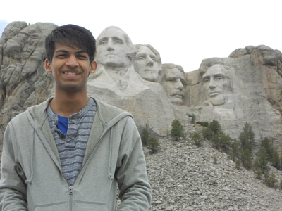 A scholarship recipient of the Kennedy-Lugar Youth Exchange and Study (KL-YES) program visits Mt. Rushmore as an exchange student (PRNewsFoto/American Councils for Int'l ...)