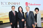 Pasinee Limatibul (2nd from left) Chairman of ICONSIAM Co., Ltd., Narong Chearavanont (Far left), Vice Chairman of ICONSIAM Co., Ltd., Koji Suzuki (2nd from right) Chairman of Takashimaya Co., Ltd., Yoko Yasuda (Far right), Managing Director of Takashimaya Singapore Ltd.