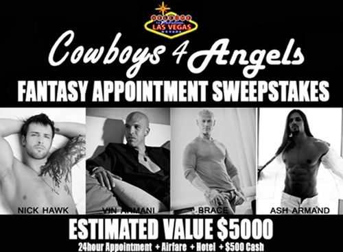 Gigolos Showtime and Cowboys4Angels Fantasy Appointment Sweepstakes
