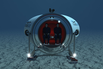 OceanGate's Cyclops 500, a fully functional prototype, reengineered from OceanGate's Lula 500; to serve as a testing platform for technologies and equipment on Cyclops series vessels.  (PRNewsFoto/OceanGate Inc.)