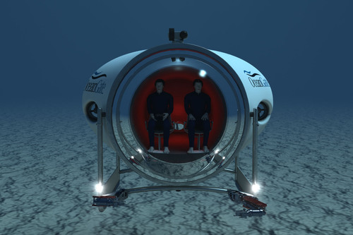 OceanGate's Cyclops 500, a fully functional prototype, reengineered from OceanGate's Lula 500; to serve  ...