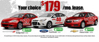 The 2014 Dodge Dart, Ford Focus and Chevy Cruze are all available for less that $200 per month on a lease deal from Medved Autoplex.  (PRNewsFoto/Medved Autoplex)