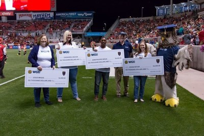 Western Governors University (WGU) and Real Salt Lake (RSL) teamed up to grant scholarships worth a year's tuition to four local students earlier this month.
