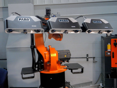 Cobalt 3D Imager mounted on a robot