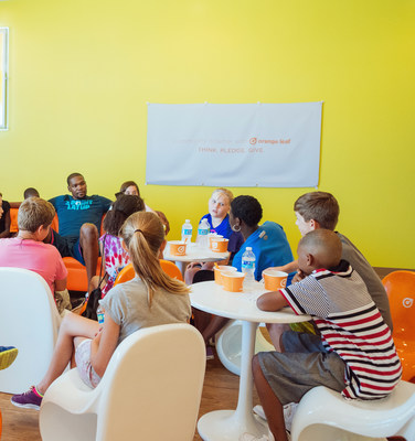 Orange Leaf Frozen Yogurt and Kevin Durant, 2014 NBA MVP and forward for the Oklahoma City Thunder, challenge kids across the country to think of creative ways they can improve their communities.