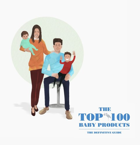 The Top 100 Baby Products, determined entirely by parents throughout the UK and designed to guide and inspire those on the journey of parenthood. An illustration of the founders Zac Ghaffar and Leticia Maciel with their 2 children. (PRNewsFoto/Top 100 Baby Products) (PRNewsFoto/Top 100 Baby Products)