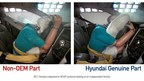 Hyundai Launches Campaign To Educate Americans On The Danger Of Counterfeit Auto Parts-Testing of a Non-OEM airbag vs. a Hyundai Genuine airbag