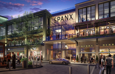 Spanx signs lease for expanded world headquarters and flagship retail center at OliverMcMillan's Buckhead Atlanta.