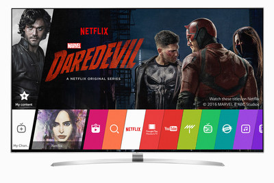 LG Electronics' expanded line-up of top-tier 2016 4K Ultra HD TVs - including OLED and SUPER UHD TVs - have been selected by Netflix for its Netflix Recommended TV program. In total, LG has 10 series and 25 distinct models that meet the Netflix Recommended TV program's stringent specifications.