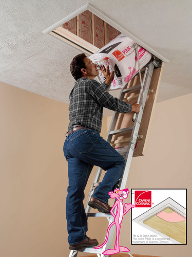 Werner's New Energy Seal Attic Ladder: Five times more energy efficient by reducing drafts, air leakage and wasted energy from consumers' homes.  (PRNewsFoto/Werner Co.)