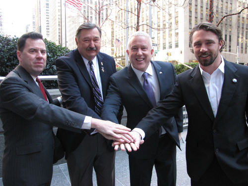 Intrepid Fallen Heroes Fund President David Winters; Jeff Roy, First Vice President of the Military Order of ...