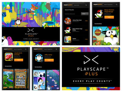 PlayScape Plus launches on Amazon with custom content.  (PRNewsFoto/PlayScape)