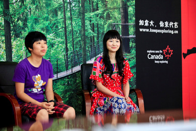 'Canada - You Can Be a Star' Winners He Lu from Guangdong and Shangguan Longzhe from Sichuan.  (PRNewsFoto/Canadian Tourism Commission)
