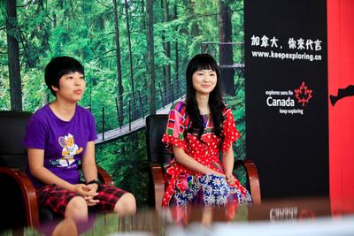 'Canada - You Can Be a Star' Winners He Lu from Guangdong and Shangguan Longzhe from Sichuan.  (PRNewsFoto/Canadian Tourism Commission)