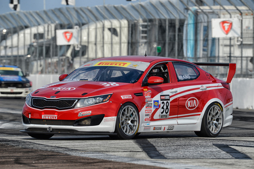 Kia Racing ready to kick off 2014 Pirelli World Challenge season on Streets of St. Petersburg.  (PRNewsFoto/Kia  ...
