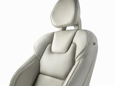 Volvo XC90 front seat detail. (PRNewsFoto/Johnson Controls) (PRNewsFoto/Johnson Controls)