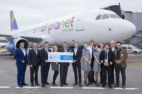 Small Planet Airlines Germany starts flights (PRNewsFoto/Small Planet Airlines) (PRNewsFoto/Small Planet ...