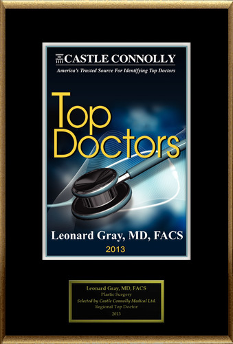 Dr. Leonard Gray MD, FACS is recognized among Castle Connolly's Top Doctors(R) for San Francisco, CA region in 2013.  (PRNewsFoto/American Registry)