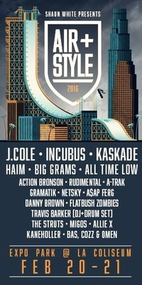 Kaskade to Play Air + Style Los Angeles Along with J. Cole and Incubus among others on February 20-21 at Expo Park, LA Coliseum