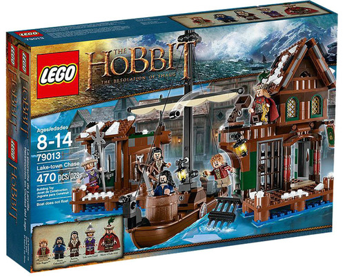 """The Lake-town Chase playset from LEGO is part of Warner Bros. Consumer Products' worldwide licensing program for """"The Hobbit: The Desolation of Smaug."""" (PRNewsFoto/Warner Bros. Consumer Products) (PRNewsFoto/WARNER BROS. CONSUMER PRODUCTS)"""