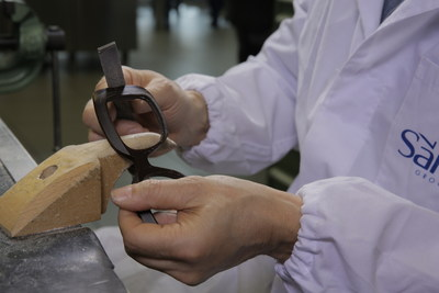 Hand craftsmanship displayed in Safilo Group Italian eyewear factory (PRNewsFoto/Safilo Group)