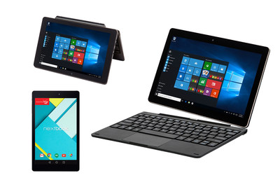 Nextbook Android and Windows tablets now available at Sam's Club locations or SamsClub.com for holiday shopping.